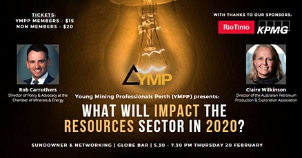 What Will Impact the Resources Sector in 2020? tickets