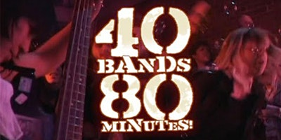Free screening: 40 BANDS / 80 MINUTES! remastered