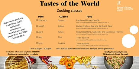 Tastes of the World - Spanish Cooking tickets