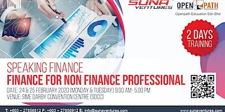 Speaking Finance Finance for Non Finance Professional tickets