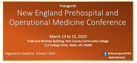 NEPOM 2020 - New England Prehospital and Operational Medicine Conference tickets