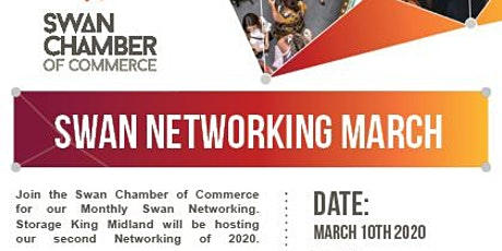 Swan Chamber Of Commerce Networking @ Storage King Midland tickets