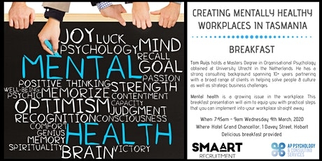 Creating Mentally Healthy Workplaces in Tasmania tickets