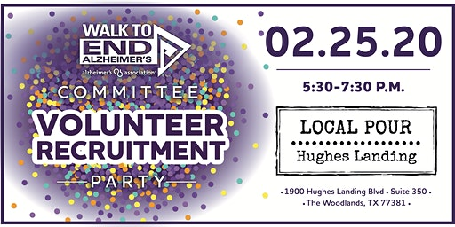 Committee Volunteer Recruitment Party- Walk to End Alzheimer's