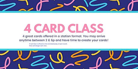 4 Card Class tickets