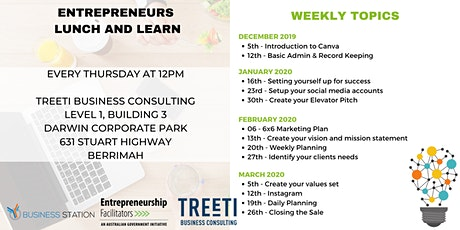 Entrepreneurs Lunch & Learn [Weekly Work Group] tickets