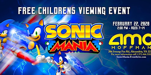 Sonic Mania: Free Children's  viewing event