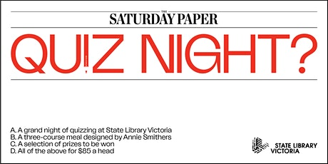 The Saturday Paper Quiz Night   February 2020 tickets