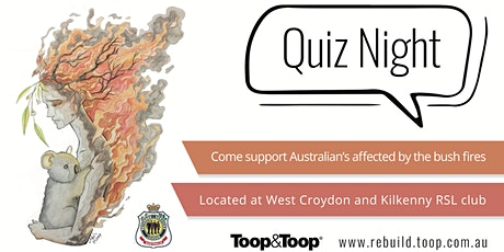 Toop&Toop Bushfire Relief Quiz Night tickets