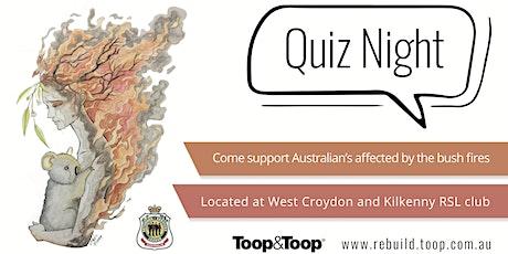 Toop&Toop Bushfire Relief Quiz Night ingressos
