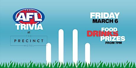 AFL Trivia at the PRECINCT tickets