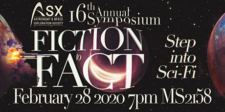 """ASX Annual Symposium  """"Fiction to Fact: Step into Sci-Fi"""" tickets"""
