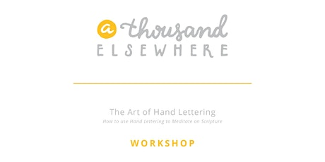 The Art of Hand Lettering - Workshop tickets