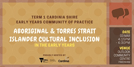 Cardinia Shire Term 1 Community of Practice tickets