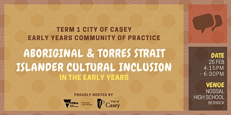 City of Casey Term 1 Community of Practice tickets