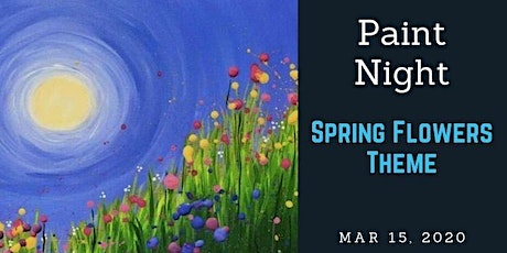 Paint Night, Spring Flowers. Bonnie Doon Hall tickets
