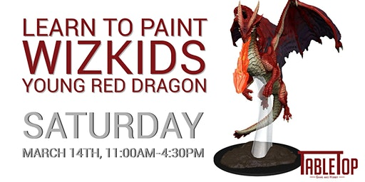 Young Red Dragon Paint and Take