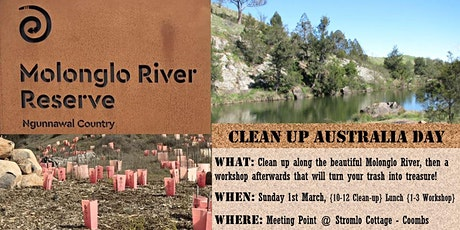 Clean up Australia Day + trash to treasure workshop tickets