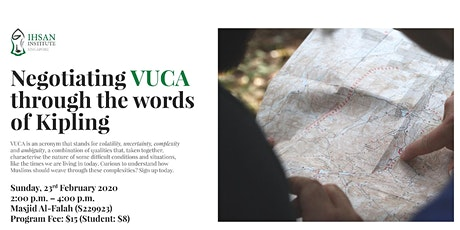 Negotiating VUCA through the words of Kipling tickets