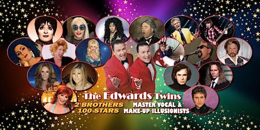 Cher Elton, Bocelli, Streisand Vegas Edwards Twins Impersonators