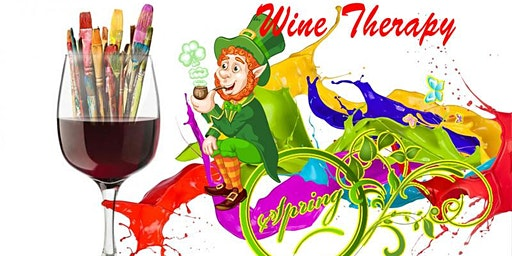 Wine Therapy - Spring/St. Patrick's Sip & Painting