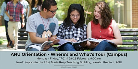ANU Orientation - Where's & What's Tour (Campus)  tickets
