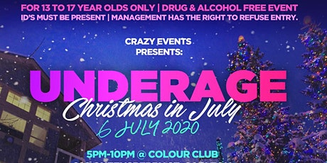 Christmas in July Underage Party Event tickets