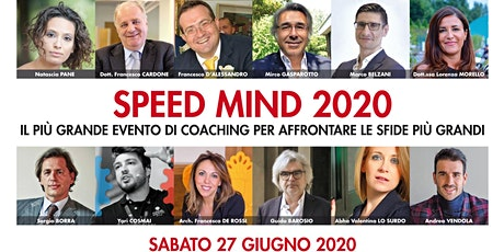 SPEED MIND 2020  ...diventa un IMPRENDITORE EFFICACE tickets