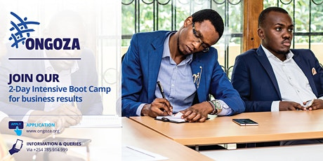 Ongoza Business Boot camp tickets