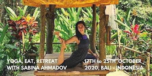 Spectacular  Jungle Yoga Retreat in Bali, Indonesia with Sabina Ahmadov