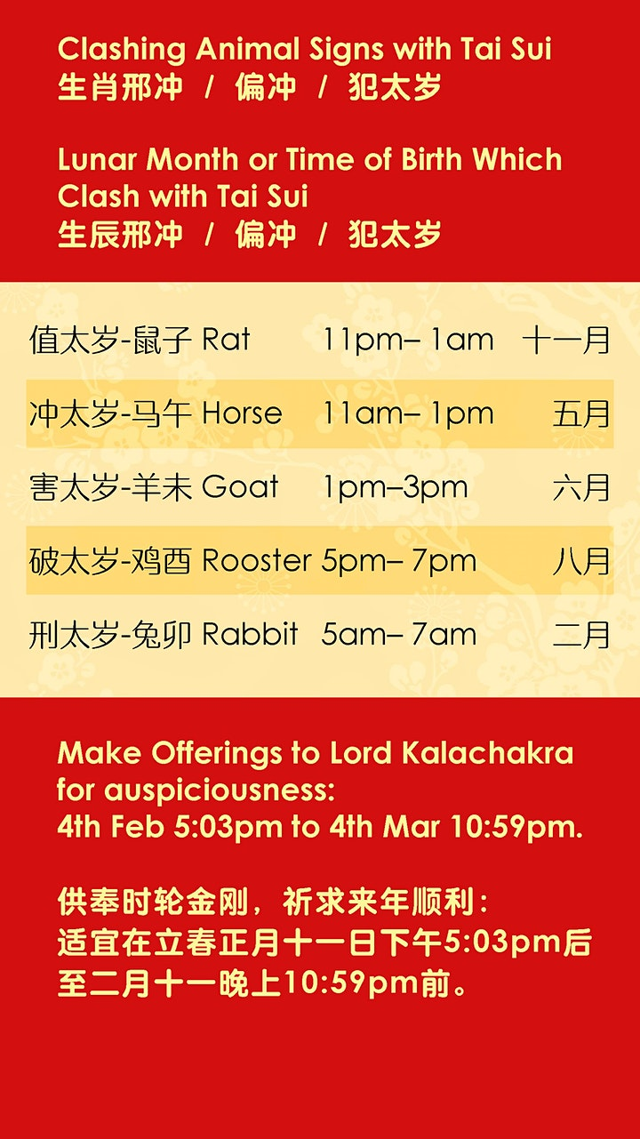CNY Prayer to Kalachakra 供奉时轮金刚 image