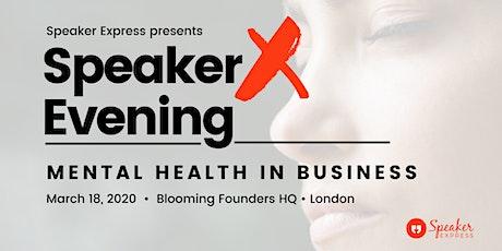 Public Speaking - SpeakerX Evening (TedTalk-inspired evening) tickets