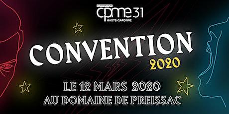 Convention CPME31 2020 billets