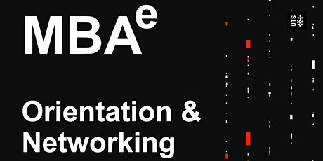 MBAe Autumn Orientation and Networking tickets