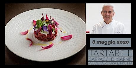 Tartare e carpacci di carne, pesce, verdura e frutta con lo chef Danilo Angè biglietti