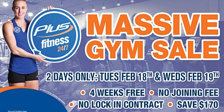 Plus Fitness Chester Hill Massive Gym SALE tickets