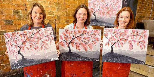Cherry Blossom Brush Party - Potten End