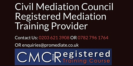 Mediator Training - CMC accredited tickets