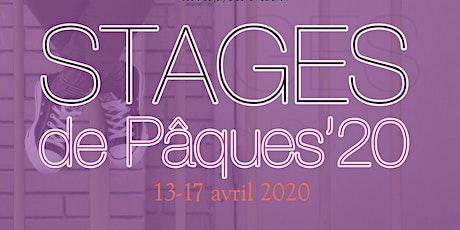 Stage de Pâques 2020 billets