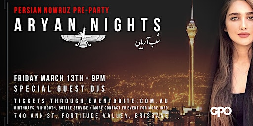 Aryan Nights presents Persian Nowruz Pre-Party