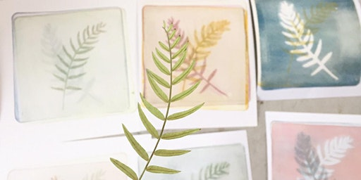 Afternoon of Botanical and Textural mono-printing