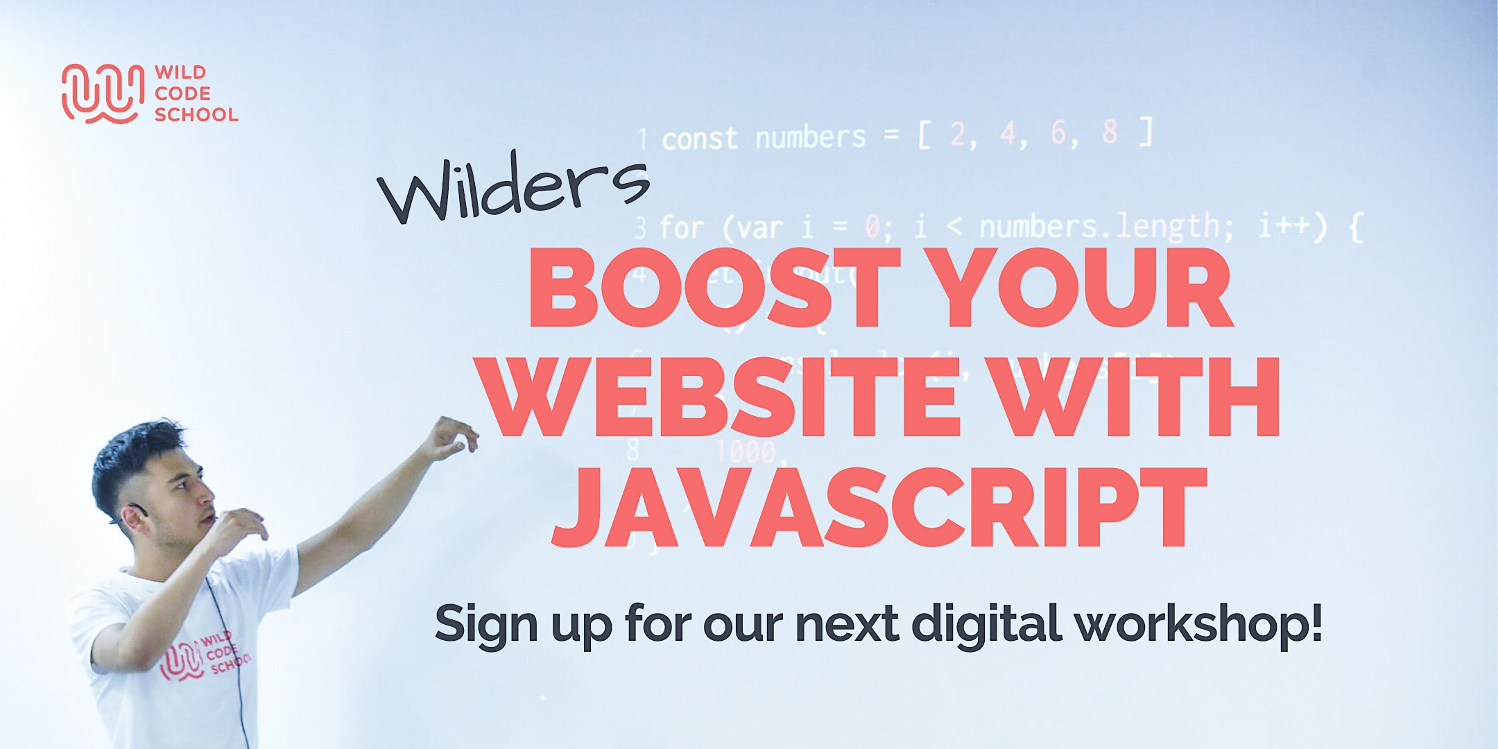 FREE CODING WORKSHOP! Boost your website with JavaScript!