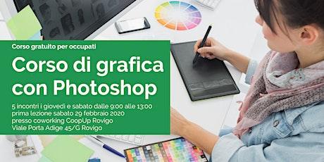 Corso di grafica con Photoshop biglietti