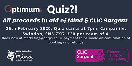 Optimum's Charity Quiz Night tickets