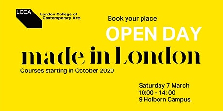 LCCA    Open Day    2020 intakes tickets
