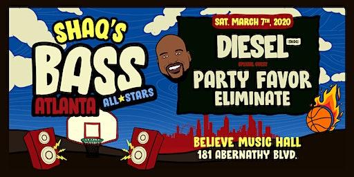 Shaq's Bass All Stars: DJ Diesel (Shaq) w/ Party Favor & Eliminate| IRIS at Believe | Sat Mar 7
