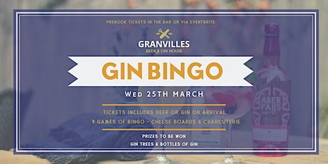 GRANVILLES - MONTHLY BINGO! (GINGO!) 25th MARCH, 2020  tickets