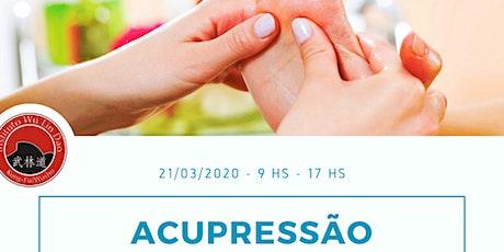 ACUPRESSÃO - MTC WULINDAO ingressos
