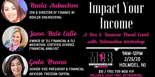 Impact Your Income: Panel Discussion & Interactive Workshop