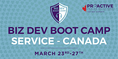 March - Biz Dev Boot Camp Service Canada